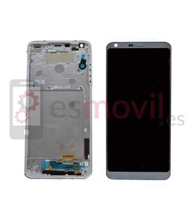 LG G6 Lcd + tactil + marco azul compatible