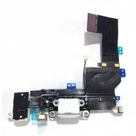 Apple iPhone 5S Flex de carga + conector jack blanco