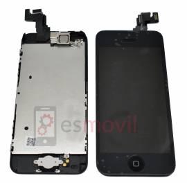 iPhone 5C Lcd + tactil+ componentes negro compatible